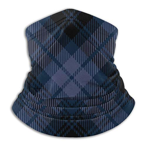 Tartán escocés Patrón textil de tartán bufanda cálida para hombres y mujeres adultos Pasamontañas para hombres ligeros