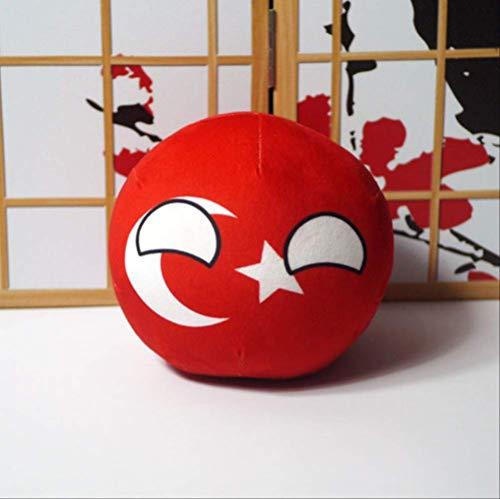N\A Polandball Puppen Anime Countryball Kurze Plüschtiere Mini Kissenbeutel Schlüsselring Anhänger Cosplay Für Geschenk 20CM