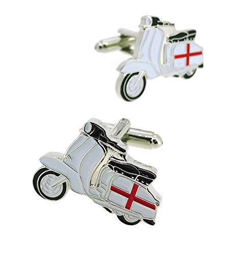Gemelolandia   Gemelos para camisa Lambretta-Vespa Cruz San Jorge (England) Gemelos Originales Para Camisas   Para Hombres y Niños   Regalos Para Bodas, Comuniones, Bautizos y Otros Eventos