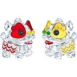 Swarovski Crystal,Dancing Lions Set of 2 Pieces Figurines 5302563