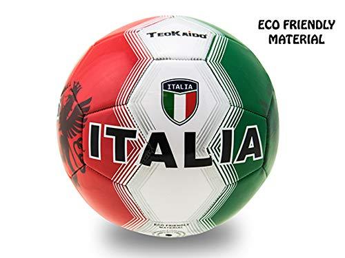 Teorema Teorema-VD51695 PVC Taglia 5 Italia Calcio-Palloni in Cuoio, Multicolore, 8017967516958