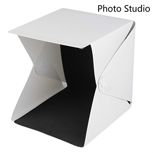 Irthing Mini Folding Portable Lightbox Studio Diffuse Soft Box with LED Light; Take Pictures With a Smartphone or DSLR Camera