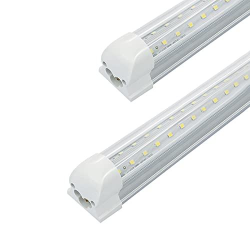 JEVCLED T8 T10 T12 Integrated 2FT Tube Garage Light LED Bulb High Brightness Fluorescent Lamp Store Light 6000K 18W 2340LM, Pack-2