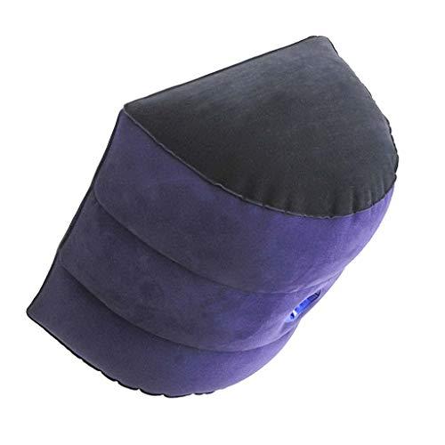 UsmanCR1 Flocado De PVC Soporte para Piernas Y Rodillas, Almohada Soporte Corporal Magic Cushion Ramp Almohada Inflable YJL-Q00004