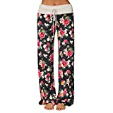 Yoga Pants for Women, FORUU Floral Printed Loose Wide Gym Long Legging Trousers 2020 New Spring Womens Pants Loose Fit Daily Work Home Best for Girlfriend Wife Lover Under 5