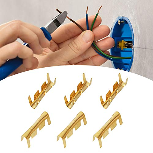 roosteruk Auto Elektrische Steckverbinder Kabelschuhe Quetschverbinder Set und Terminals Stoßverbinder 100 Pcs Für Auto Motorrad Schalter