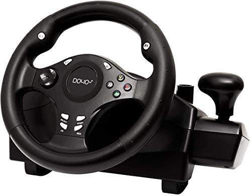 DOYO 270 Grad Motor Vibration Driving Gaming Rennrad mit ansprechendem Getriebe und Pedalen für PC / PS3 / Nintendo Switch / TV BOX