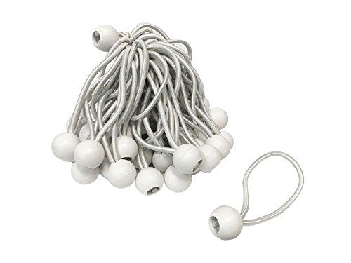6 White Bungee Balls (50 Pack)