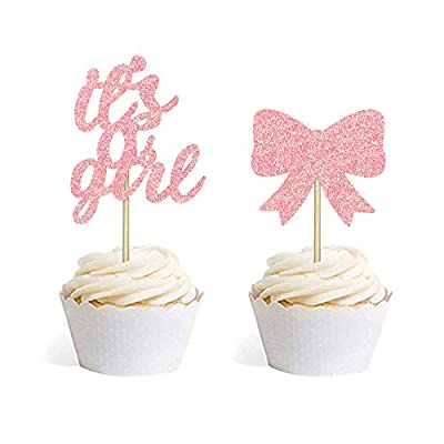 baby shower cupcake toppers girl