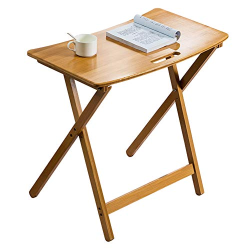 coffee table Nordic Creative Foldable Small Coffee Table, Portable Solid Wood Sofa Side Table, Suitable for Living Room Bedroom Office Hotel End Table