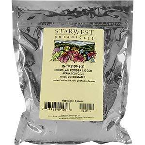 Bromelain Powder 150gdu - Ananas comosus, 1 lb,(Starwest Botanicals)
