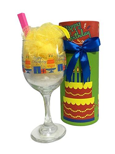 Unique Women's Birthday Gift - Birthday Bouquet Candy | Birthday Bouquet Edible | Happy Birthday Gift Tower (Bath Salt Sundae - Birthday Cake)