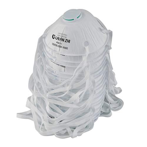 RoxTop FFP2 Gesichtsmund Mundwerkzeug mit Atemventilfilter FFP2 Anti PM 2.5 Anti Nebel für Kinder Erwachsene, Nicht FFP3, Weiß, 150 * 110 * 5 mm, 4er Pack