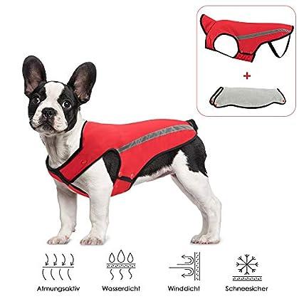 ABNEHMBARE FLANNEL LINING DESIGN: SlowTon Hundejacke für HundeBekleidung nimmt weiche Flanell als innere Schicht. Winter können Sie Ihre Haustier-Flanellschicht kleiden Nylon Fleece. Wenn es schneit oder bei anderen extrem kalten Wetter, können Sie I...