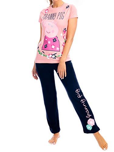 Peppa Pig Pijama para Mujer Granny Pig Rosa Small