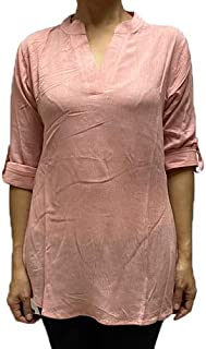 Veronica Long Sleeve Ladies Blouse Nude pink