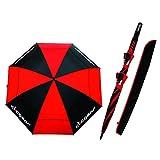 Clicgear Regenschirm TRCCUMWPBR, Schwarz/Rot -