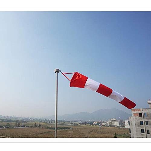 Z.L.FFLZ Weathervane 2 Size Weather Nylon Wind Sock Weather Vane Windsock Wind Monitoring Needs Wind Indicator for Outdoor Garden Decor (Color : Red white, Size : 80cm)