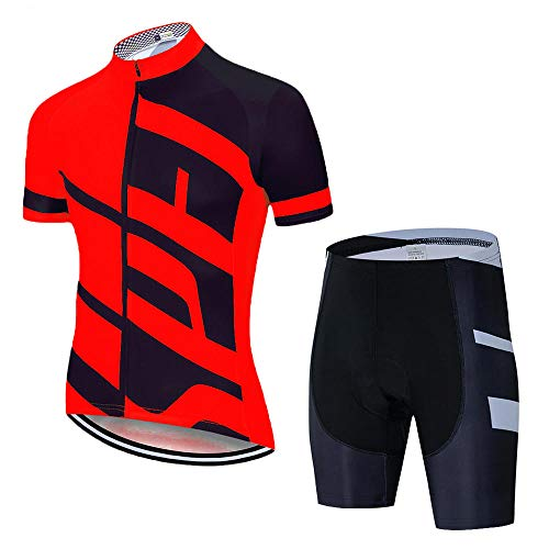 HXTSWGS Conjunto de Jersey de Ciclismo, Conjunto de Ropa de Ciclismo de montaña de Carretera de Verano, Conjunto de Ropa Deportiva de Bicicleta MTB, ciclismo-A06_XXL