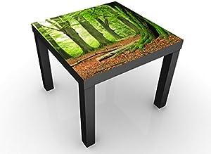 Apalis Tavolino Design Mighty Beech Trees 55x55x45cm, Tischfarbe:Weiss;Größe:55 x 55 x 45cm
