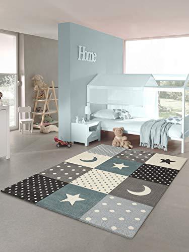 Tapis chambre enfant Etoiles (bleu, 80 x 150 cm)
