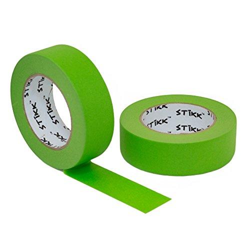 2pk 1.5' x 60 yd STIKK Green Painters Tape 14 Day Easy Removal Trim Edge Finishing Masking Tape...