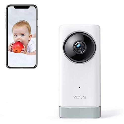 Victure 1080P Babyphone mit Kamera, Baby Kamera 2.4G Überwachungskamera WLAN Kamera mit Bewegungserkennung&Geräuscherkennung, 2-Wege-Audio