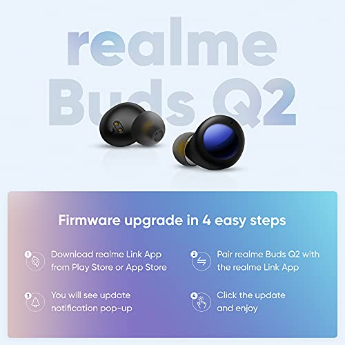 realme Buds Q2 Active Noise Cancellation (ANC) in-Ear TWS Earphones (Black)