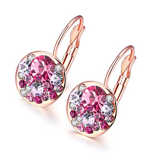 TTGE Cristales de Swarovski Pendientes con Forma de Gota de corazón Hechos con Elementos austriacos para Regalo de Mujer del Día de la Madre 2021