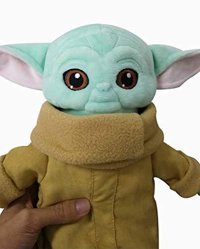 Snongh Juguete De Peluche Baby Yoda,Lindo Bebé Suave Yoda Relleno Maestro Muñeca - El Mandalorian-Cian 12 Pulgadas