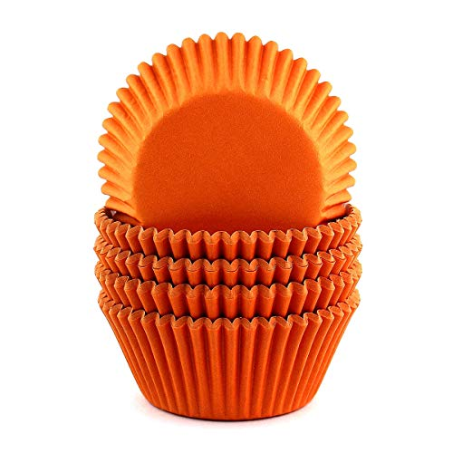 Eoonfirst Standard Size Cupcake Liners Halloween Party Baking Cups 100 Pcs (Orange)