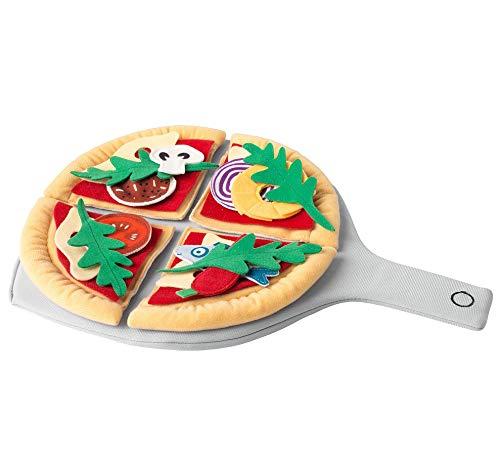 IKEA.. Spielzeug-Pizzaset aus Stoff, Polyester, Küchenspielzeug für Pizza, Spielzeug-Lebensmittel für Kinder, 24 Teilen im Set, Zubehör für Kinderküche