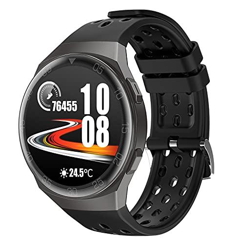 BNMY Smartwatch 1.28' Reloj Inteligente Hombre Mujer 24 Modos Deportivo Reloj Pulsera Actividad Inteligente con Pulsómetro Monitor De Sueño Monitores Impermeable IP67 para Android E iOS,Negro