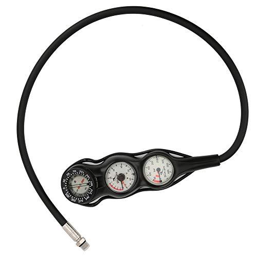 V GEBY GG-997 Medidor de Profundidad TPR Brújula Medidor de presión de Buceo Accesorio Luminoso Profesional