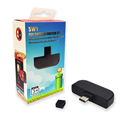 qianber Bluetooth 5.0 Wireless A-udio Adattatore Tipo-c Trasmettitore per NS Switch/Lite