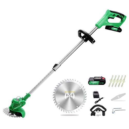 Best Prices! Zzmop Cordless Grass Trimmer with Battery, Charger & 1 x Stainless Steel Hacksaw – 18...