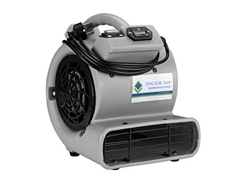 DOCTOR-SAN DS-7008 Radiale turboventilator, professionele blazer voor het drogen van gebouwen 100 W, 230 V, grijs
