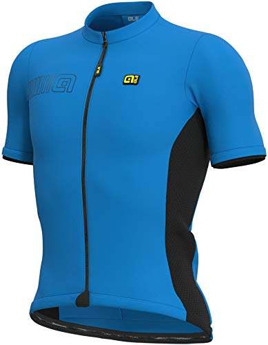 ALE' Solid Color Block Uomo Manica Corta Jersey - blu - M