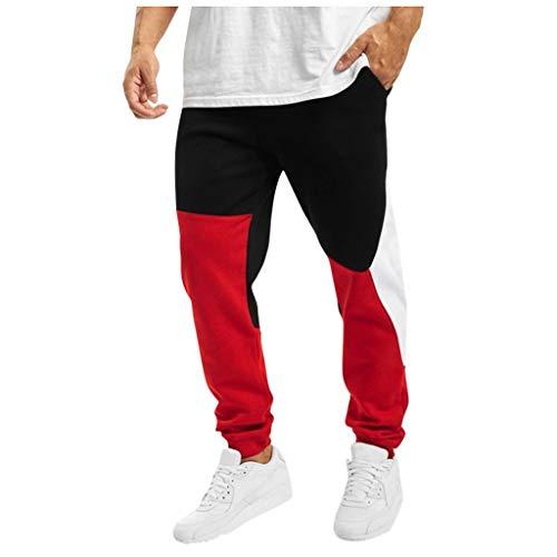 MINIKIMI broek heren slim fit trainingsbroek mannen lang warme joggingbroek katoen sport fitness chino jogger broek vrije tijd sportbroek met zakken