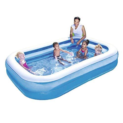 Rodzinny brodzik nadmuchiwany basen dziecięcy basen z piłeczkami oceanicznymi odpowiedni do ogrodu na zewnątrz dorośli dzieci 262 × 175 × 51 cm, korzystanie z basenu