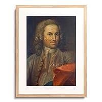 ヨハン・ゼバスティアン・バッハ Johann Sebastian Bach 肖像画 (1715) 額装アート作品