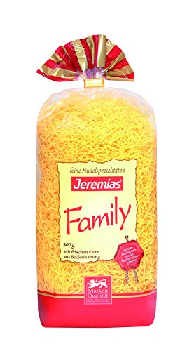 Jeremias Suppennudeln 2 mm, Family Frischei-Nudeln, 4er Pack (4 x 500 g Beutel)