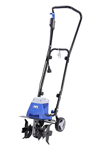 AAVIX AGT307 10 Amp Electric Tiller/Cultivator, 13', Black/Blue