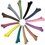 iZhuoKe Pinza De Pelo[12Piezas],Cocodrilo De Pelo Clipss,Plástico Pinzas De Pelo,Pinzas de Pelo Profesional,Pelo Utensilios De Peluquería De Salón(12 Colores)