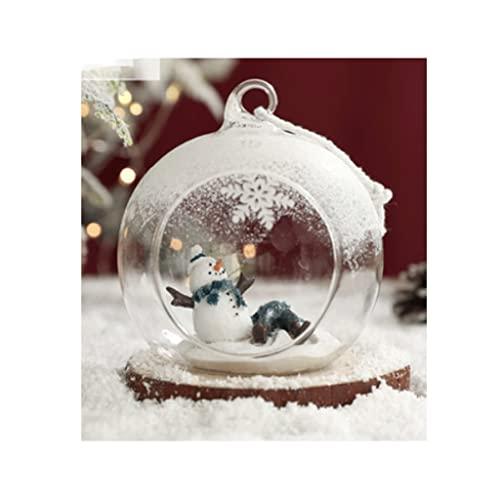 ZHONGHUA Natale Ornamento Palla Trasparente Vetro Sfera di Vetro Natale Pendente Pupazzo di Neve Decorazione dell'albero di Natale Adatto for la Decorazione delle Vacanze