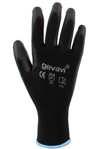 Gevavi Safety GP0100100 GP01 Allround 2 paia di guanti, 10, Nero