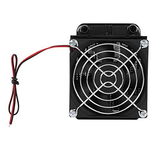 Tonysa Ventilador del radiador de la CPU, 80MM CPU LED Refrigerador de refrigeración por Agua Radiador de la Fila de Calor con Ventilador para computadora PC Refrigerado por Agua