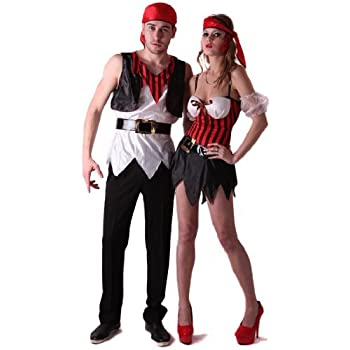 Generique - Disfraz de Pareja de Piratas sexys S: Amazon.es ...
