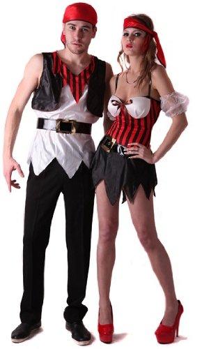Generique - Disfraz de Pareja de Piratas sexys S