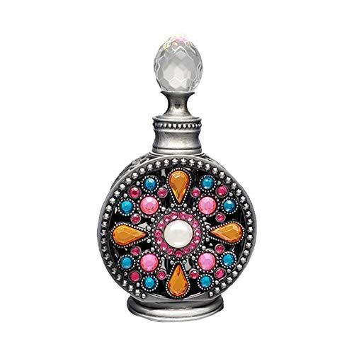 Bouteille de parfum vide antique 10 ml bouteille de décoration de luxe colorée pour cadeau de voyage - noir